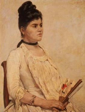 Portrait of a Lady holding a fan