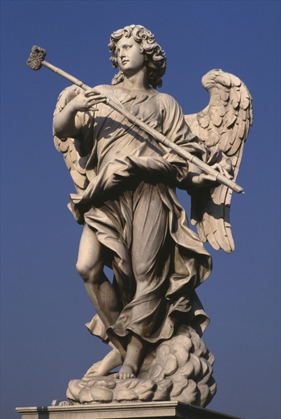Giovanni Lorenzo Bernini Statue_of_an_angel_holding_a_p
