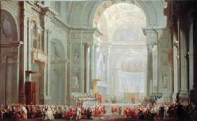 Pannini, Giovanni Paolo : Interior of a St. Peter's,...
