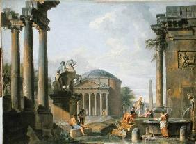 Landscape with Roman Ruins
