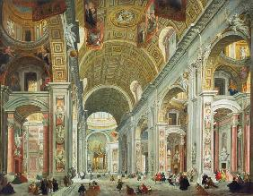 Pannini, Giovanni Paolo : Interior of St. Peter's, R...