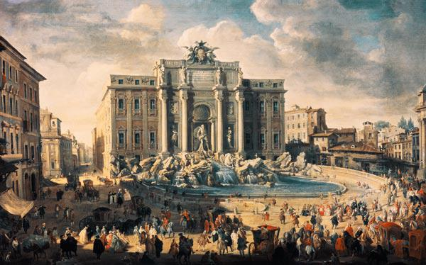 Pannini, Giovanni Paolo : The Trevi Fountain in Rome