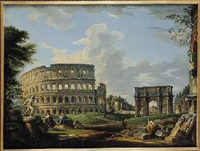 Pannini, Giovanni Paolo : The Colosseum and the Arch...