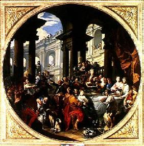 Pannini, Giovanni Paolo : Feast under an Ionic Porti...