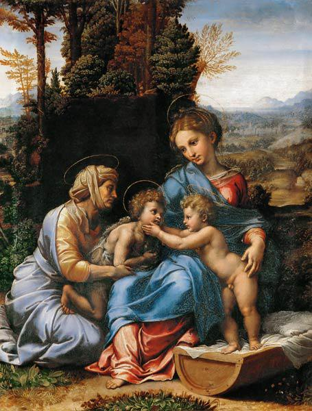 The Holy Family with John the Baptist as a Boy and Saint Elizabeth (La Petite Sainte Famille)
