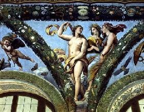 The Three Graces, from the 'Loggia of Cupid and Psyche'