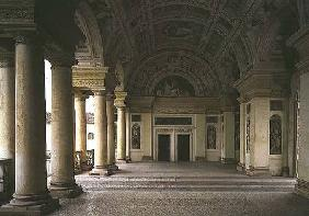 The Loggia di Davide (or D'Onore) interior decorated with frescos of biblical subjects including Kin