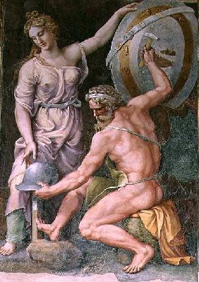 Vulcan forging the armour of Achilles