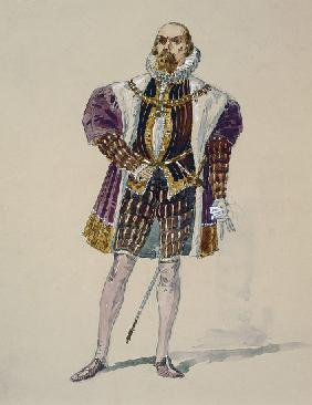 Costume for Alvise in Act III of La Gioconda by Amilcare Ponchielli