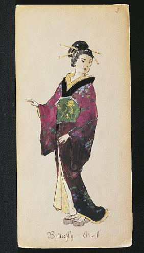 Costume for Butterfly in Act II of Madama Butterfly by Giacomo Puccini