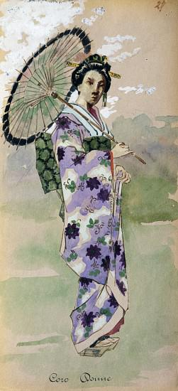 Costume for chorus woman from Madama Butterfly by Giacomo Puccini