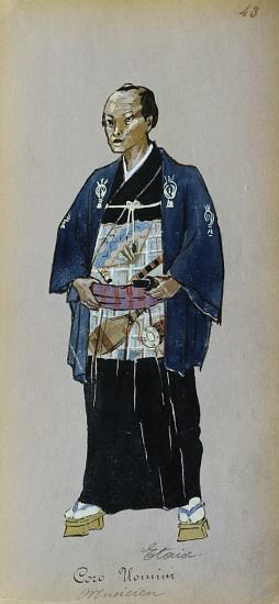 Costume for member of male chorus from Madama Butterfly by Giacomo Puccini