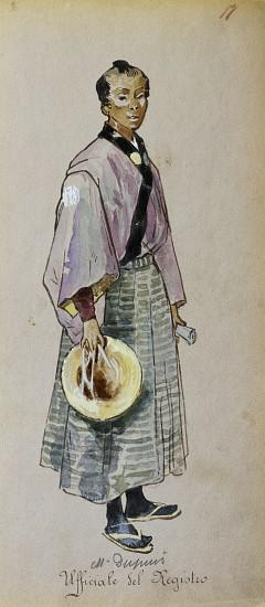 Costume for Official registrar from Madama Butterfly by Giacomo Puccini