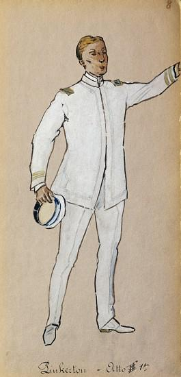 Costume for Pinkerton in Act III of Madama Butterfly by Giacomo Puccini