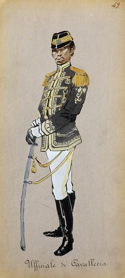 Costume of cavalry officer from Madama Butterfly by Giacomo Puccini