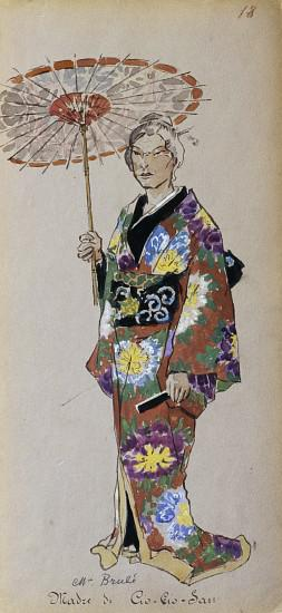Costume of Cio-Cio-Sans mother from Madama Butterfly by Giacomo Puccini