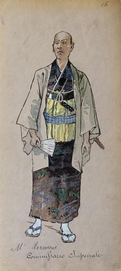 Costume of Imperial commissioner from Madama Butterfly by Giacomo Puccini