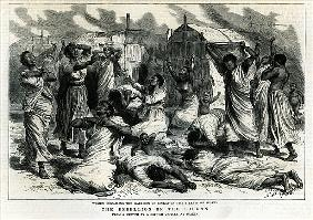 Women bewailing the garrison of Sinkat in the streets of Suakim, The Rebellion in the Soudan, from '