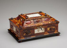 Courtly amber casket