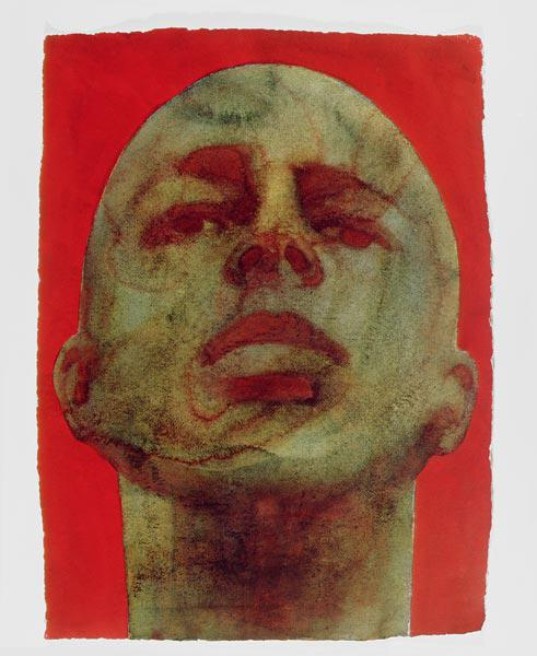 Head, 1998 (w/c on handmade indian paper)