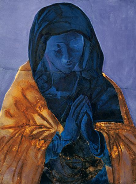 Prayer (after Sassoferrato) 2005 (w/c on handmade Indian paper)