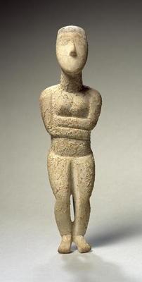 Cycladic Figure Early Spedos C 2700 Bc Greek As Art