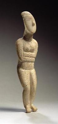 Cycladic figure, Early Spedos, c.2700 BC (marble) (see also 257632)