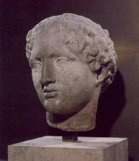 Head of a goddess, the 'Tete Laborde', from the Parthenon, Athens
