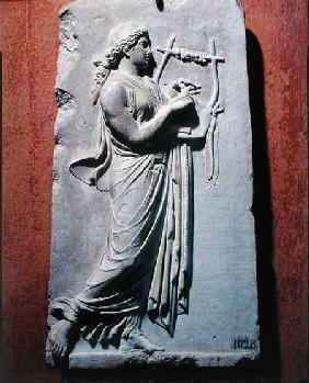 Relief depicting Terpsichore, the muse of dancing and song