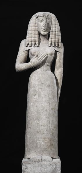 Female statue, known as the Auxerre Goddess