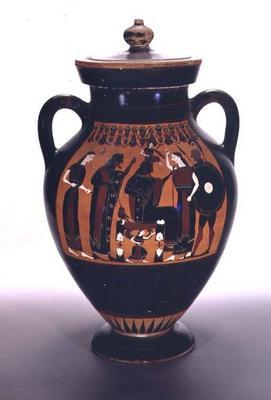 Attic black-figure amphora depicting the Birth of Athena (pottery)