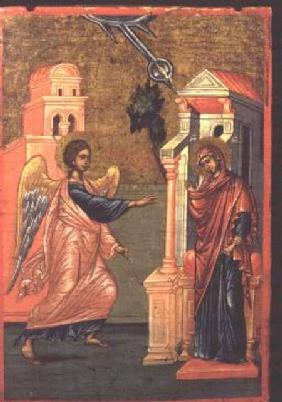 Annunciation, Greek icon