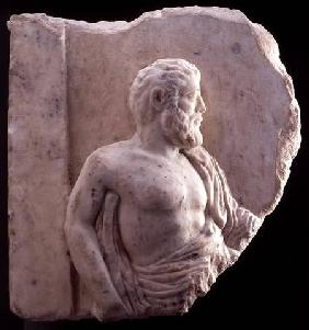 Bas-relief of a philosopher, Greek