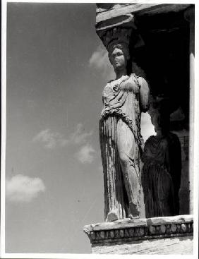 Detail of a caryatid from the Erechtheion