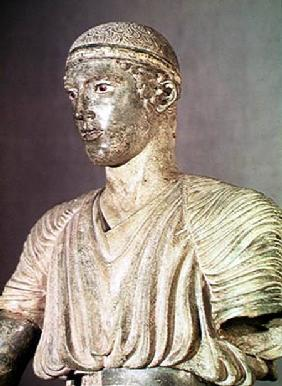 Detail of the Delphi Charioteer