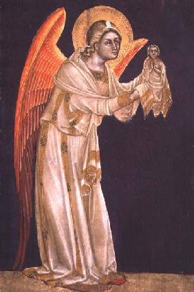 Angel (tempera on panel)