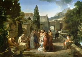 Homer Singing his Iliad at the Gates of Athens