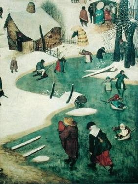 Children Playing on the Frozen River, detail from the Census of Bethlehem