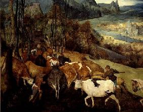 The Return of the Herd (Autumn) 1565  (detail of 186444 and 556)