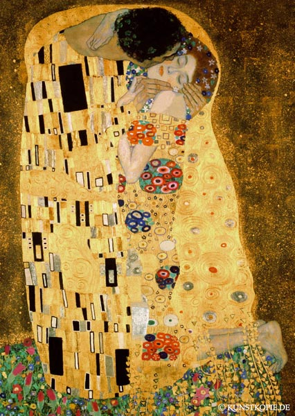 kunstpostkarten von gutstav klimt bei kunstkopie de as art print or hand painted oil. Black Bedroom Furniture Sets. Home Design Ideas