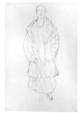 Standing Woman with Coat