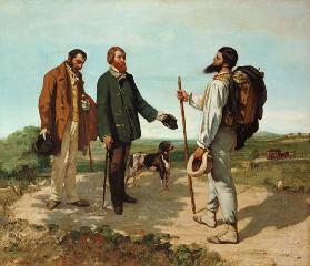The meeting (or: Voucher at-home day Monsieur Courbet)