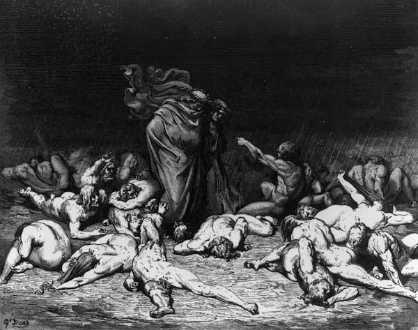 What Dante and virgil in hell