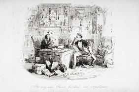 Attorney and Client, fortitude and impatience, illustration from ''Bleak House'' Charles Dickens (18