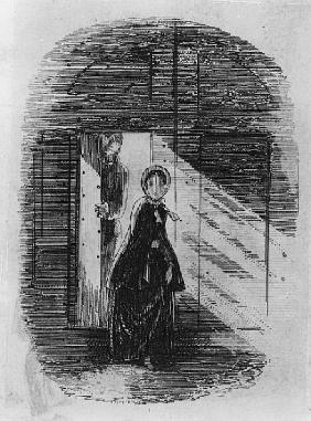 Detail of Amy Dorrit from the frontispiece to ''Little Dorrit'' Charles Dickens (detail of 394268)