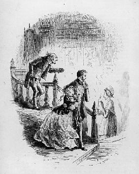 Flora''s tour of inspection, illustration from ''Little Dorrit'' Charles Dickens