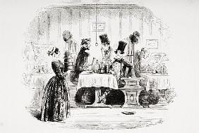 Mr. Guppy''s entertainment, illustration from ''Bleak House'' Charles Dickens (1812-70) published by