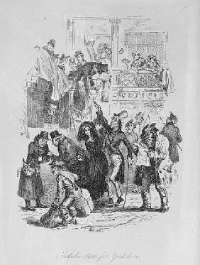 Nicholas starts for Yorkshire, illustration from `Nicholas Nickleby'' Charles Dickens (1812-70) publ