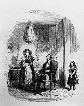 The Dombey Family, illustration from ''Dombey and Son'' Charles Dickens (1812-70) first published by
