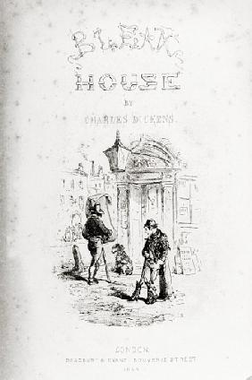 Title page of ''Bleak House'' Charles Dickens (1812-70) published by  1853